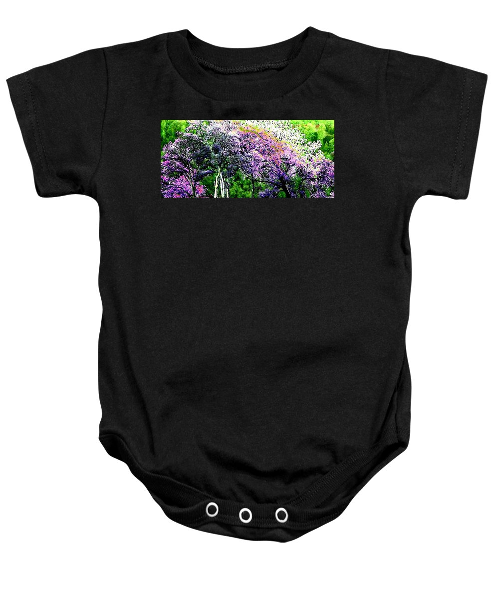 Photo Design Baby Onesie featuring the digital art Paradise Hills by Will Borden