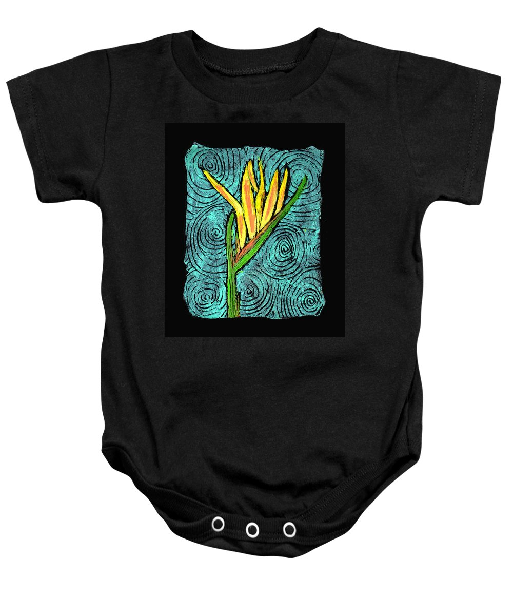 Flower Baby Onesie featuring the painting Paradise by Wayne Potrafka