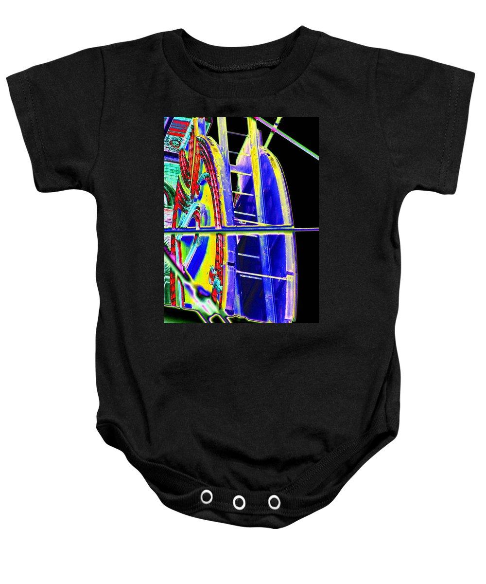 Seattle Baby Onesie featuring the digital art Paramount Theater Detail by Tim Allen