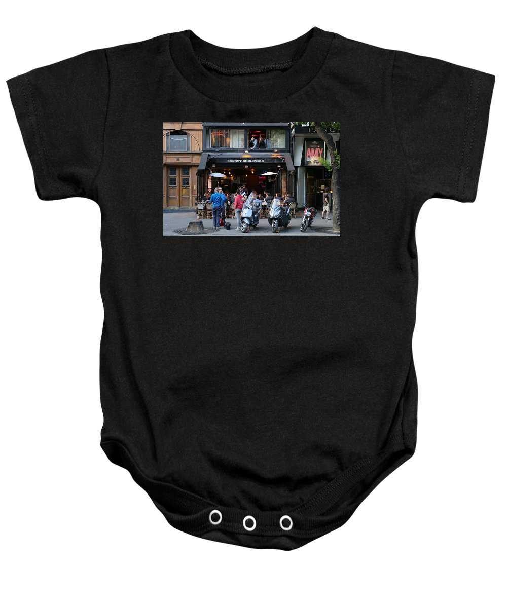 Paris Baby Onesie featuring the photograph Paris Street Life 4 by Andrew Fare