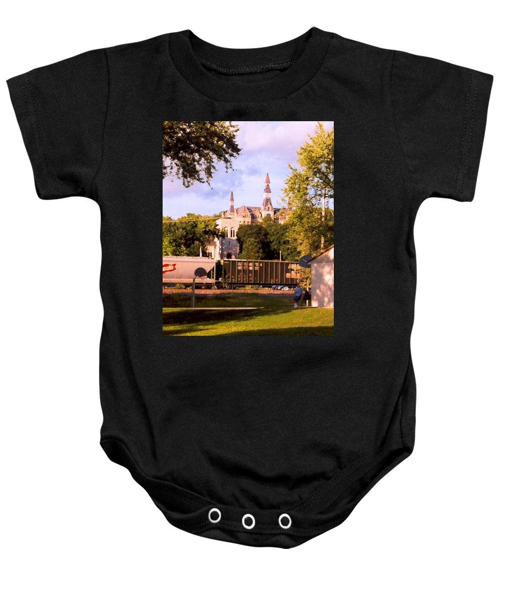 Landscape Baby Onesie featuring the photograph Park University by Steve Karol