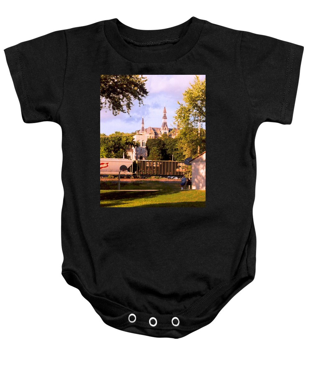 Landscape Baby Onesie featuring the photograph Park University by Steve Karol