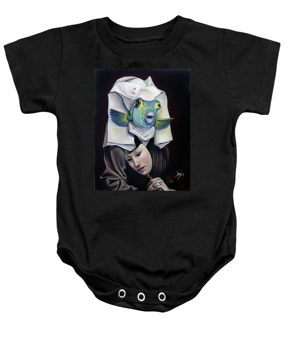 Fish Baby Onesie featuring the painting Parrishfish by Patrick Anthony Pierson
