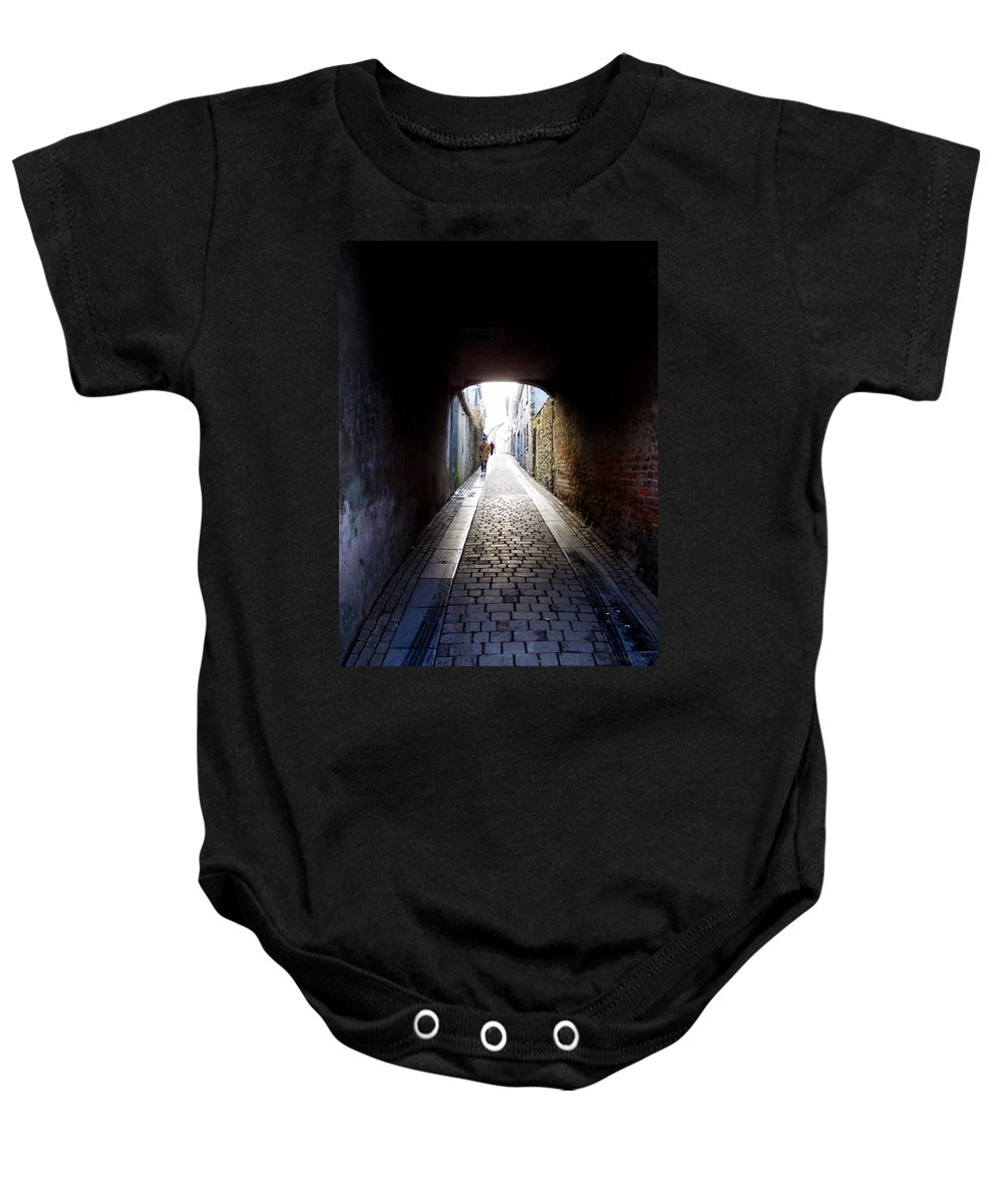 Cooblestone Baby Onesie featuring the photograph Passage by Tim Nyberg