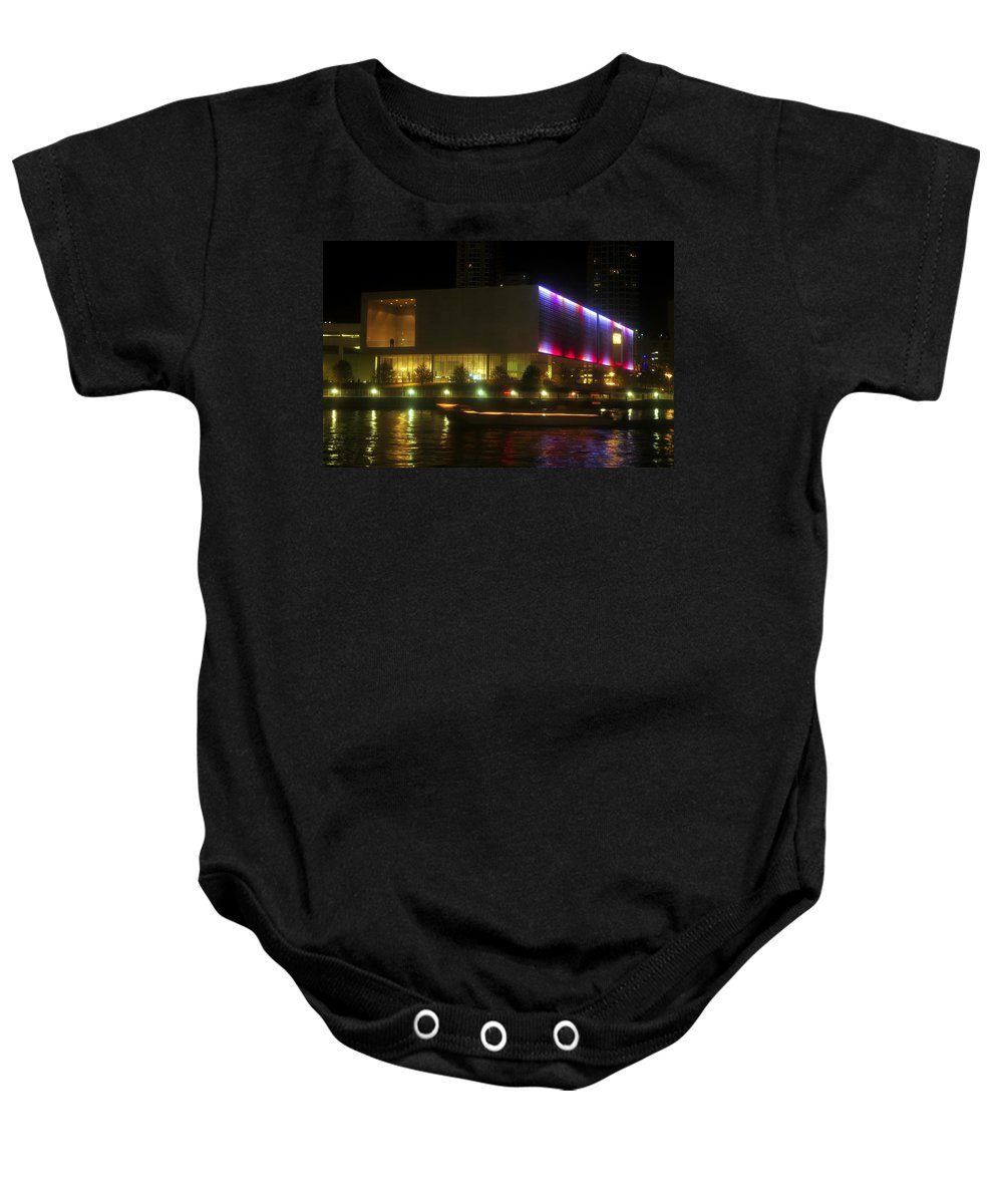 Tampa Bay Art Center Baby Onesie featuring the photograph Passing Boat by David Lee Thompson