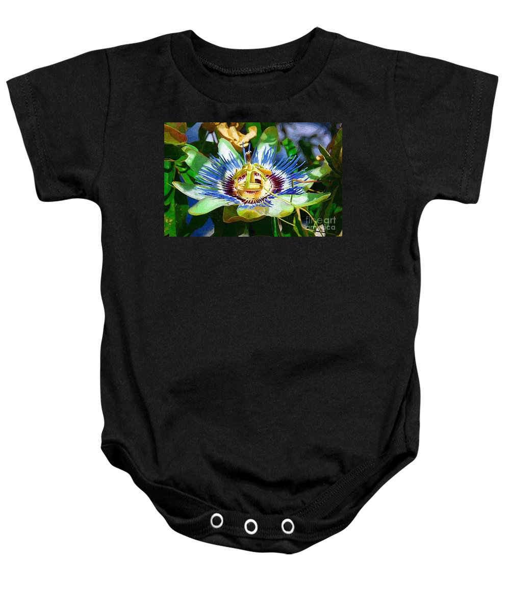 Flower Baby Onesie featuring the photograph Passion Flower by Donna Bentley
