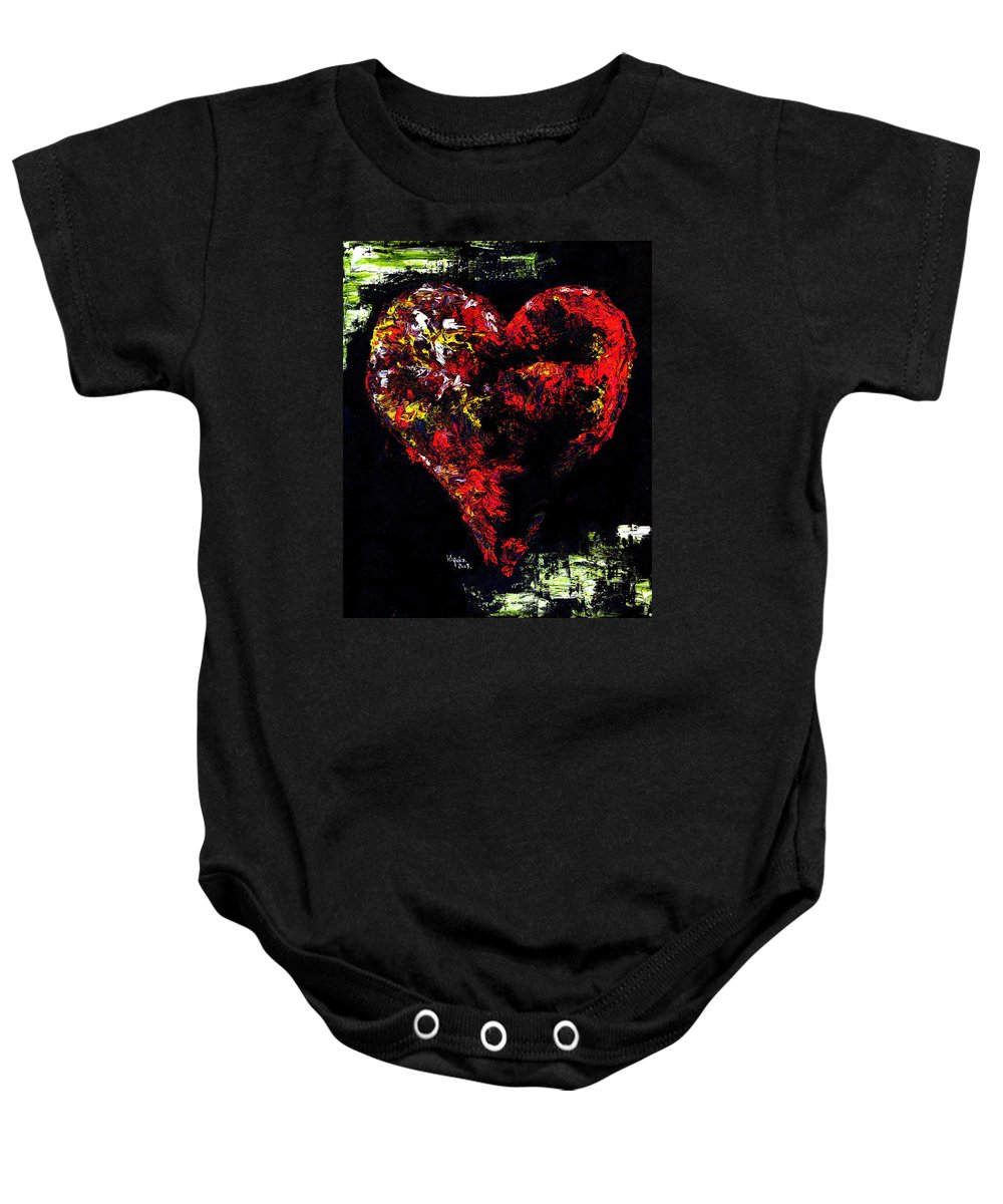 Heart Baby Onesie featuring the painting Passion by Hiroko Sakai
