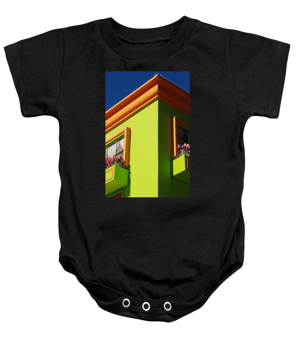 Sky Baby Onesie featuring the photograph Pastle Corners by Rob Hans