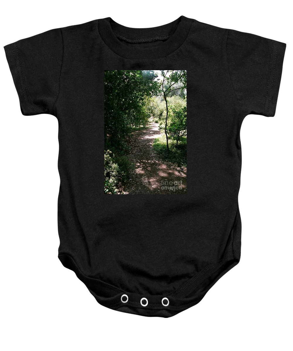 Path Baby Onesie featuring the photograph Path by Dean Triolo