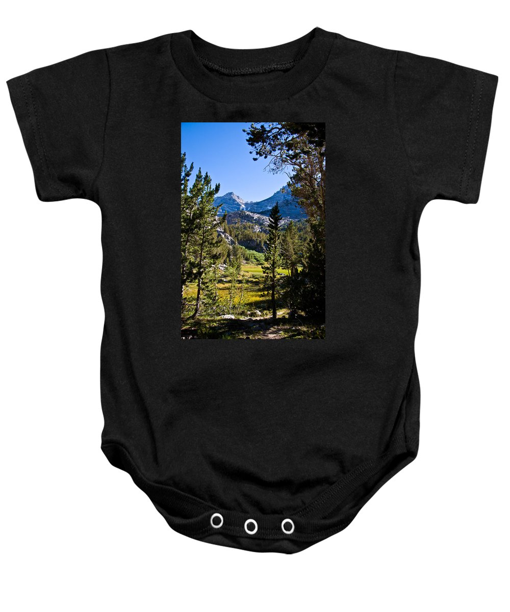 Scenic View Baby Onesie featuring the photograph Path To Treasure Lakes by Chris Brannen