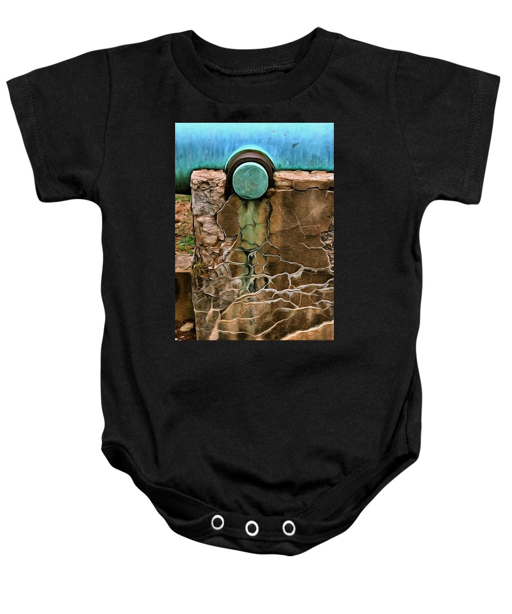 Painterly Baby Onesie featuring the photograph Patina One by Robert Brown