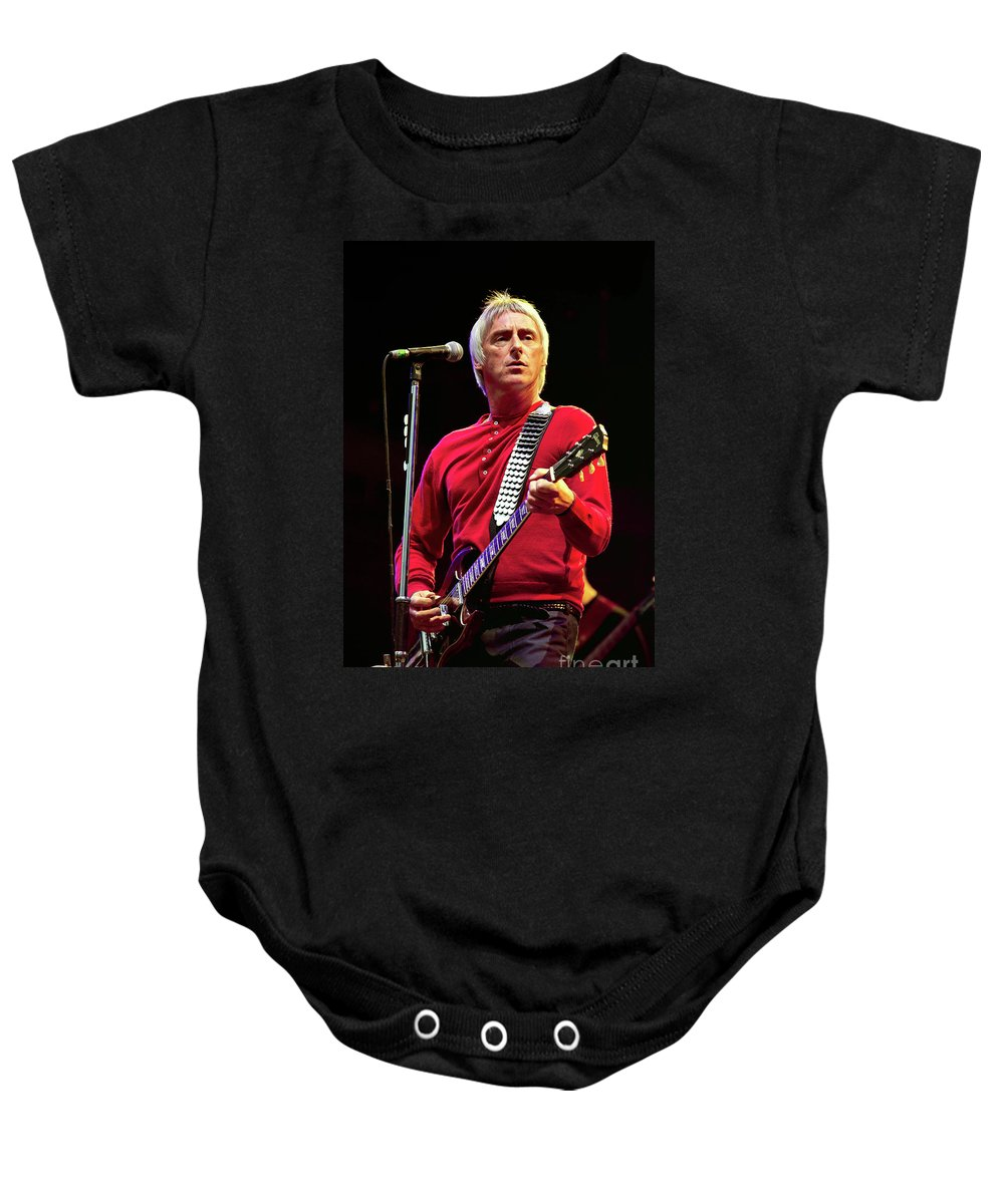 Paul Baby Onesie featuring the photograph Paul Weller - 001 by Olivier Parent