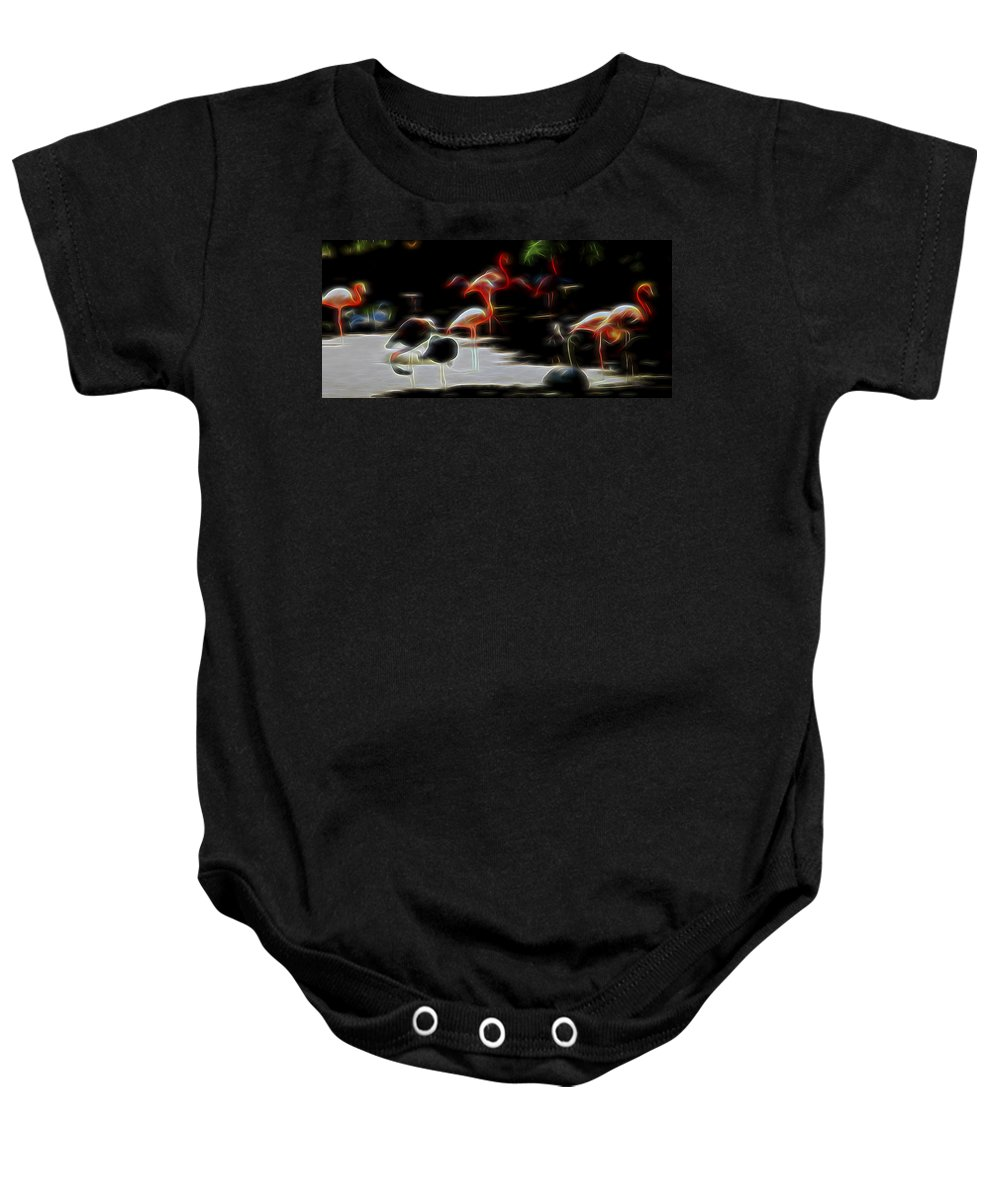 Nature Baby Onesie featuring the digital art Peaceful Coexistence by William Horden