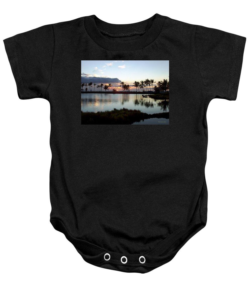Sunset Baby Onesie featuring the photograph Peaceful Sunset by Deborah Crew-Johnson