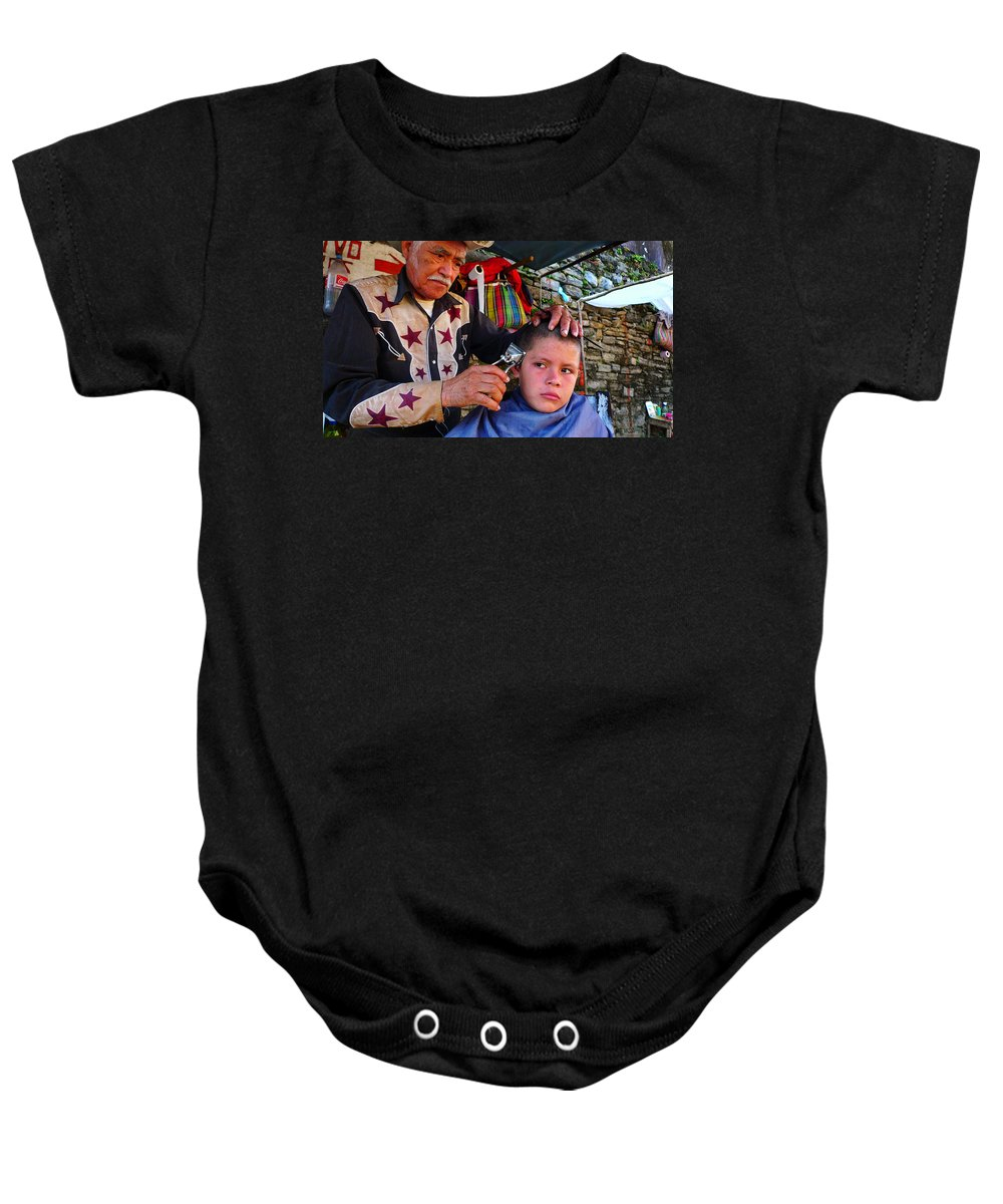 Skip Hunt Baby Onesie featuring the photograph Peluquero Dos by Skip Hunt