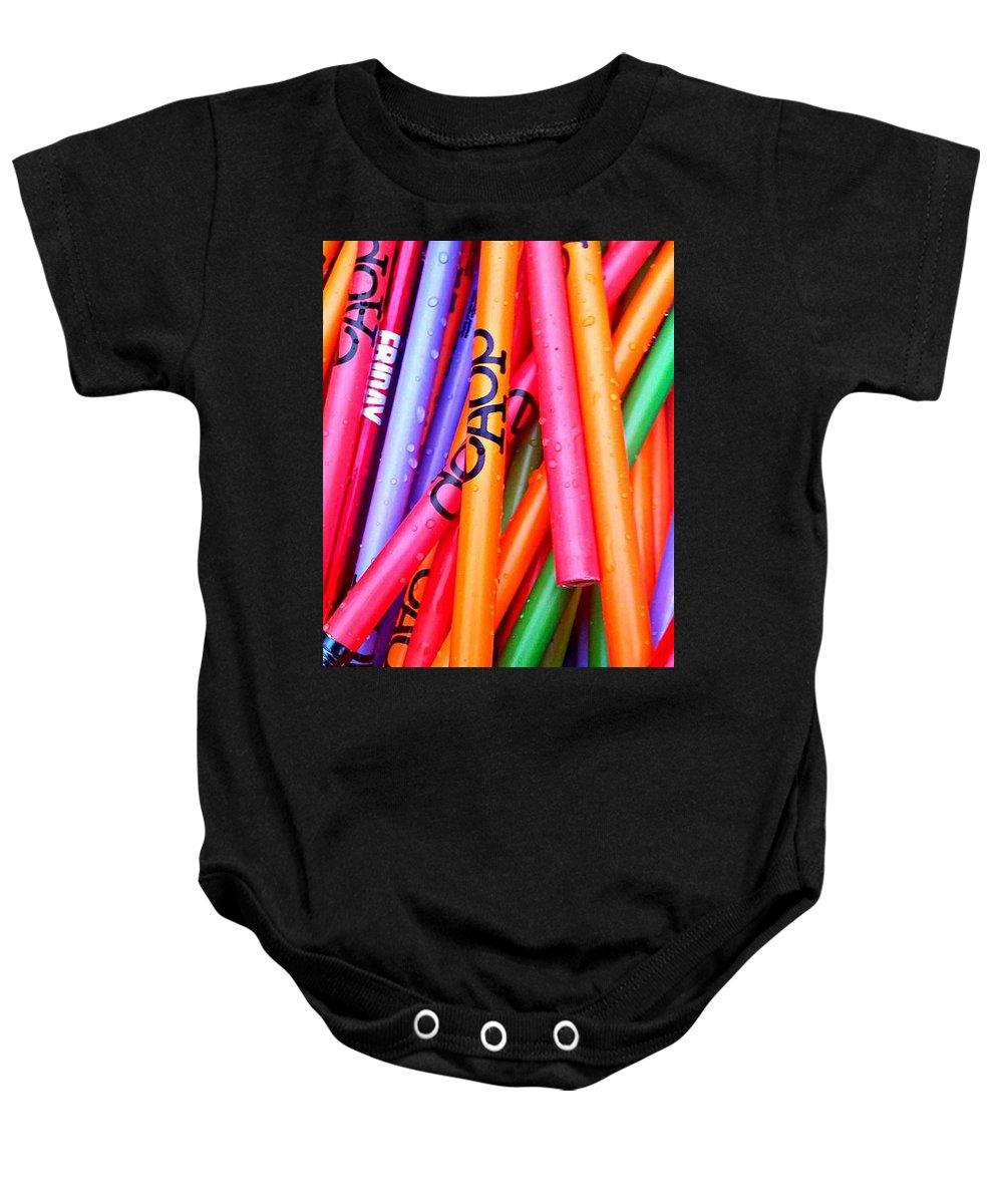Pencils Baby Onesie featuring the digital art Pencils by Evangeline O'Neil