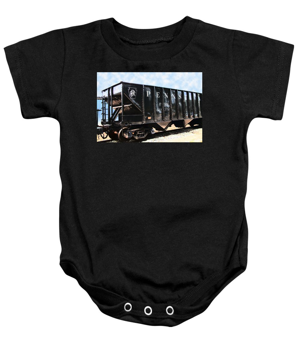 Trains Baby Onesie featuring the photograph Pennsylvania Hopper by RC DeWinter