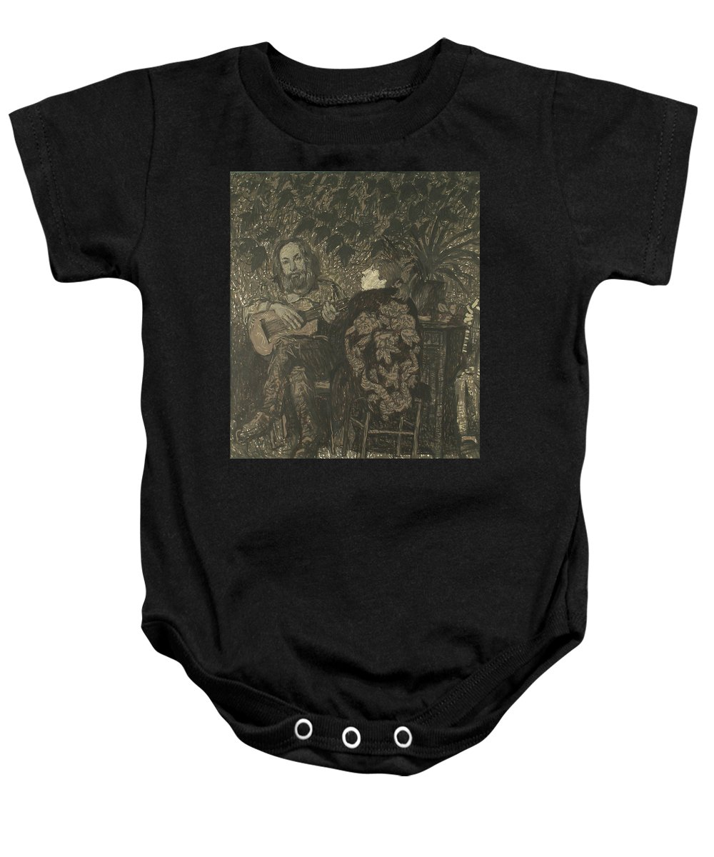 People Baby Onesie featuring the painting Three Persons by Robert Nizamov