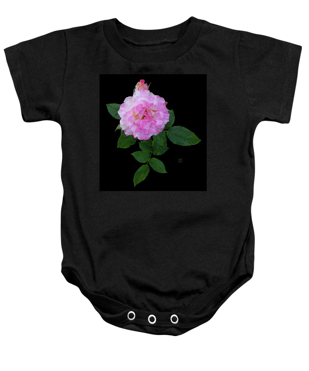 Cutout Baby Onesie featuring the photograph Peppermint Rose1 Cutout by Shirley Heyn