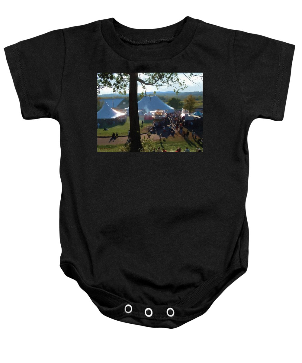 Afternoon Baby Onesie featuring the painting Perfect Fair Weather by RC DeWinter