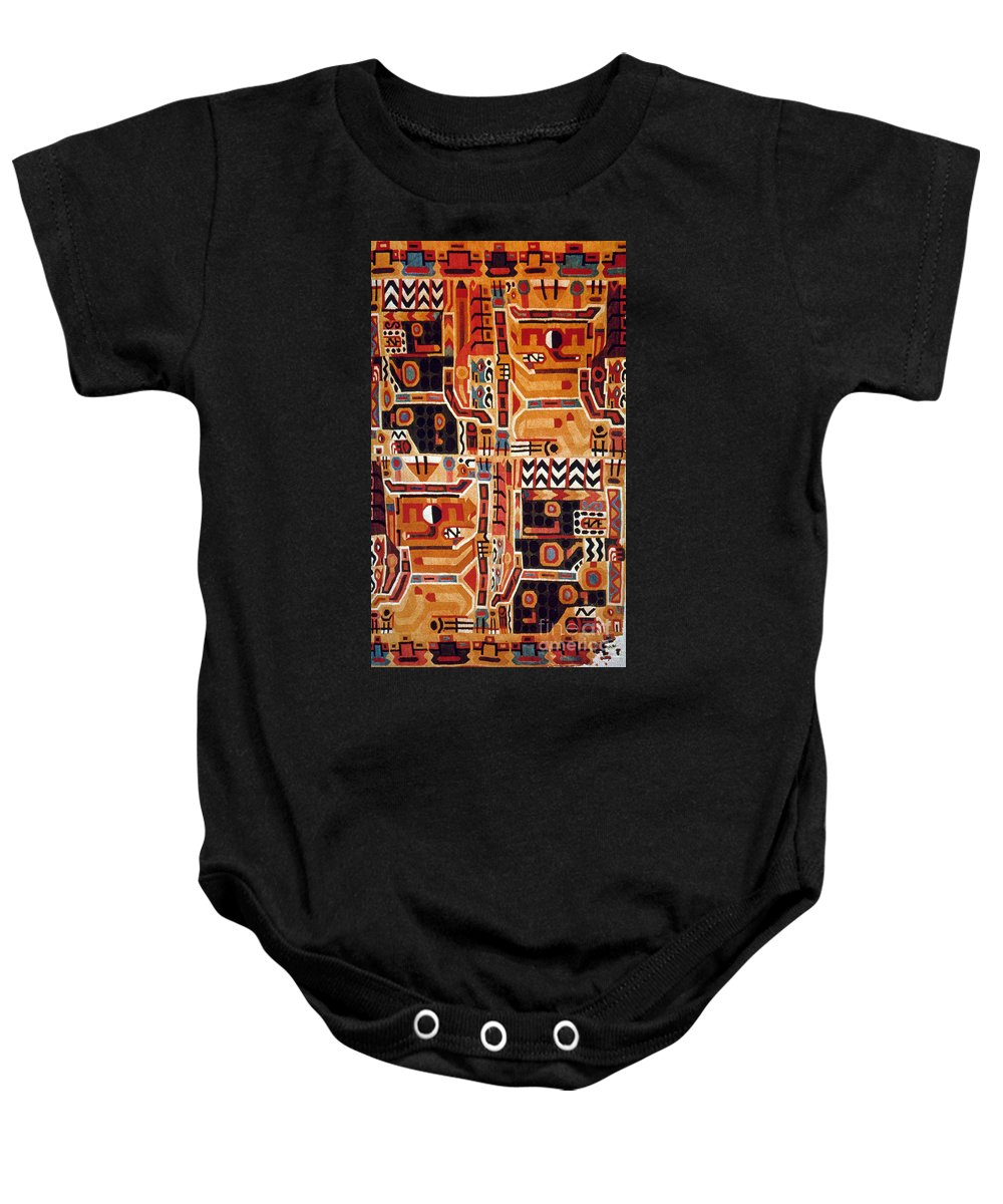 12th Century Baby Onesie featuring the photograph Peru: Tunic Fragment by Granger