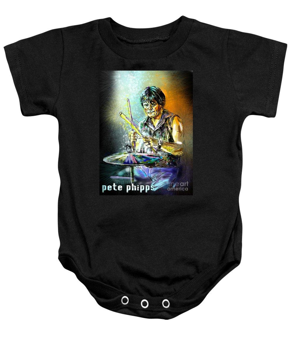 Pete Phipps Portrait Baby Onesie featuring the digital art Pete Phipps by Miki De Goodaboom