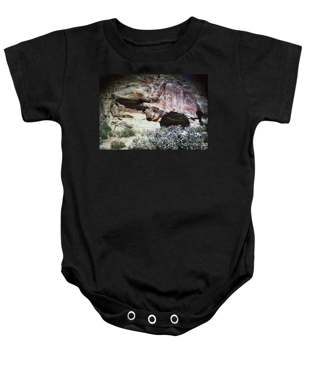 1939 Baby Onesie featuring the photograph Petra, Transjordan: Cave by Granger