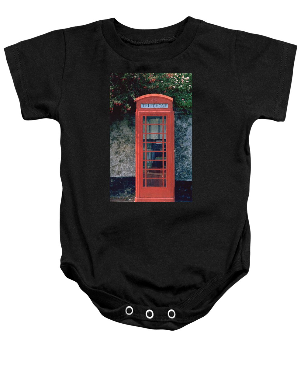 Great Britain Baby Onesie featuring the photograph Phone Booth by Flavia Westerwelle