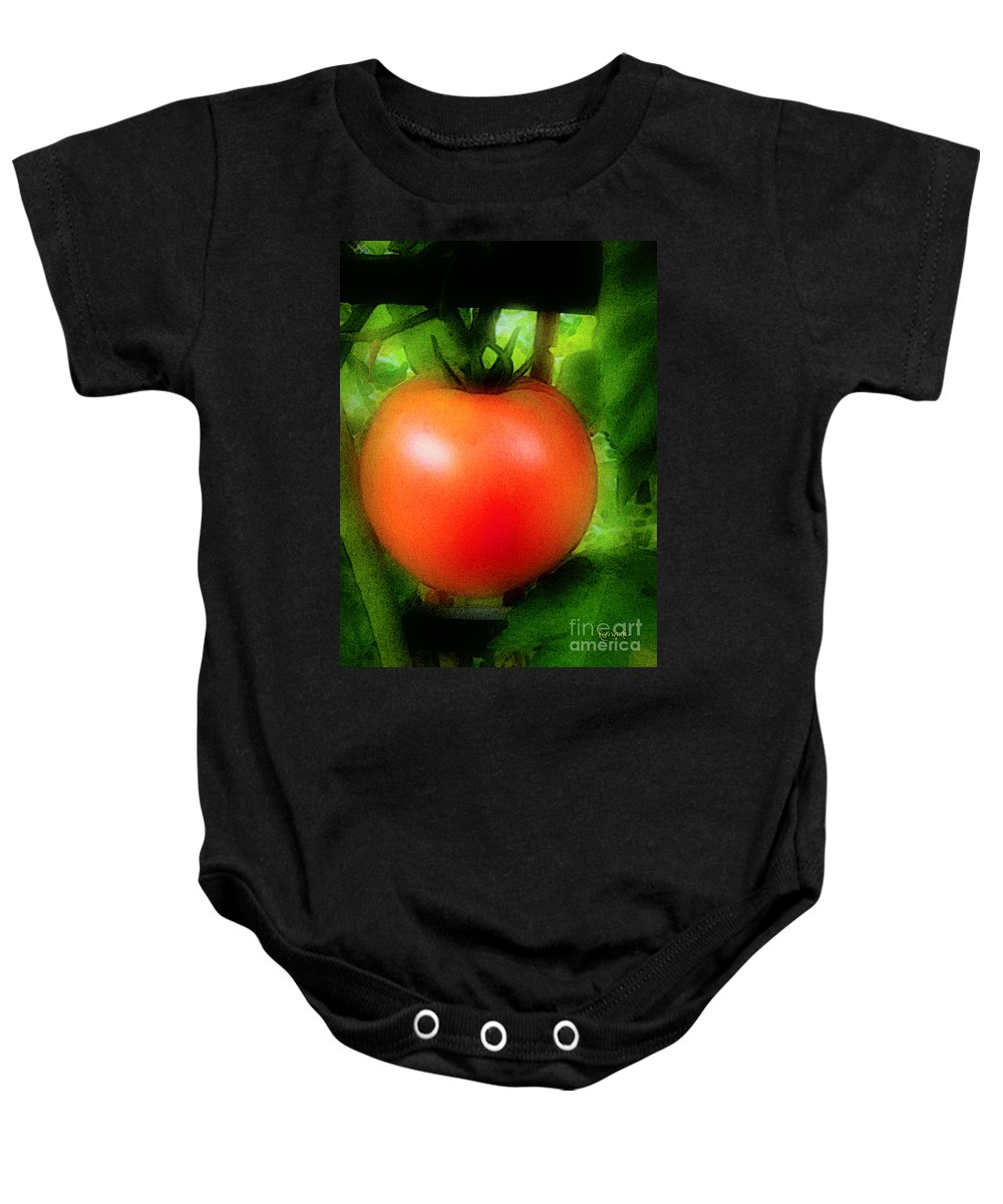 Garden Baby Onesie featuring the painting Picture Perfect by RC DeWinter