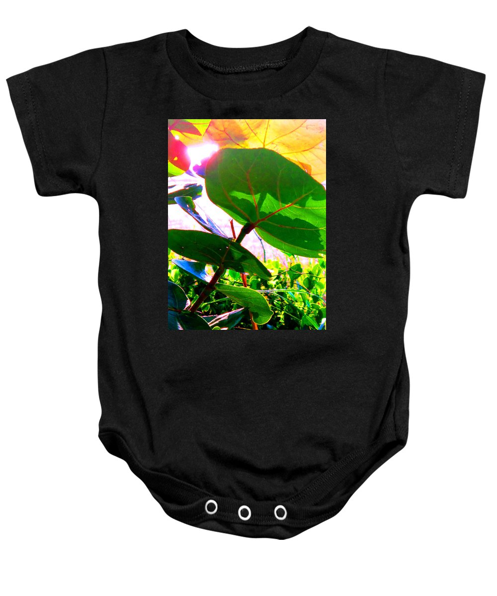 Sea Baby Onesie featuring the photograph Piercing Sea Grapes by Ian MacDonald