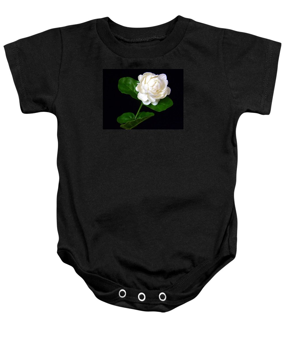 Flower Baby Onesie featuring the photograph Pikake by Mary Deal