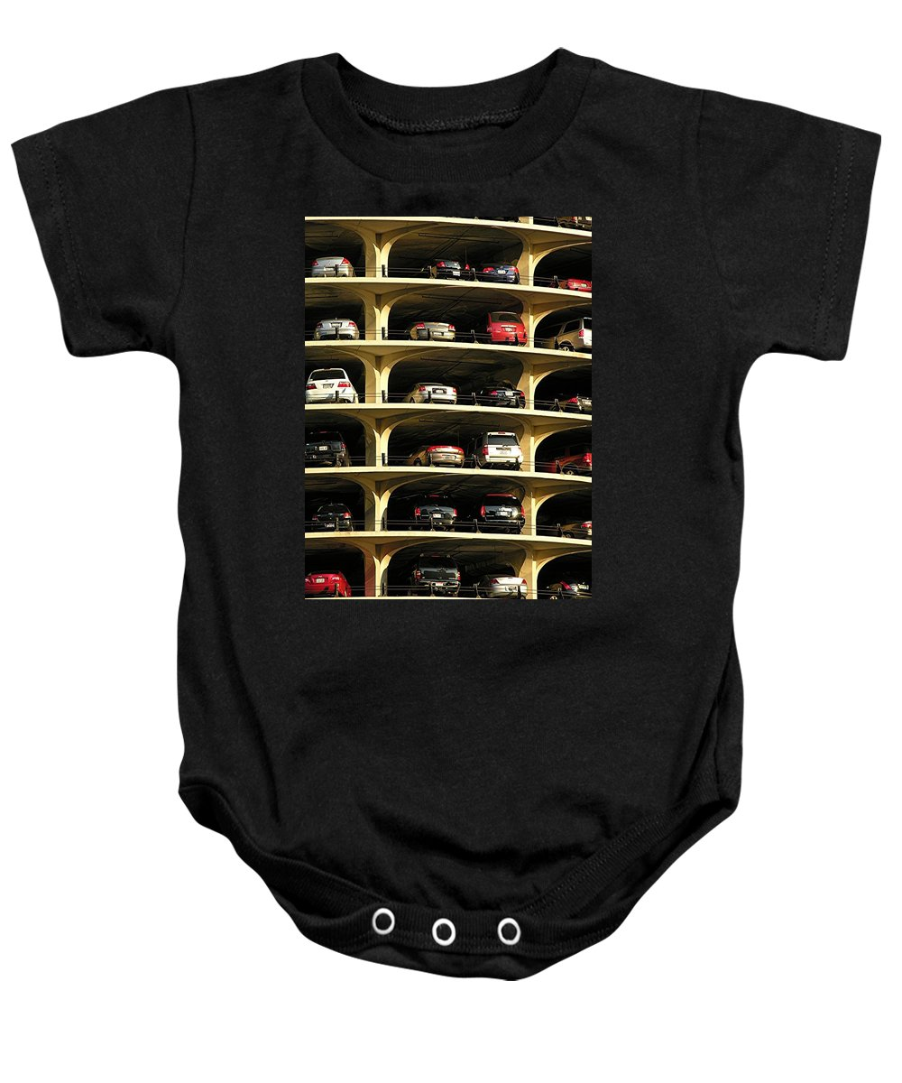 Cars Baby Onesie featuring the mixed media Piled High by Diane Greco-Lesser
