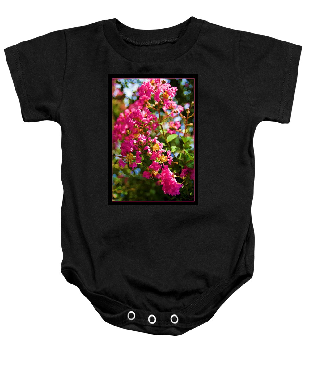 Flower Baby Onesie featuring the photograph Pink Explosion by Ricky Barnard