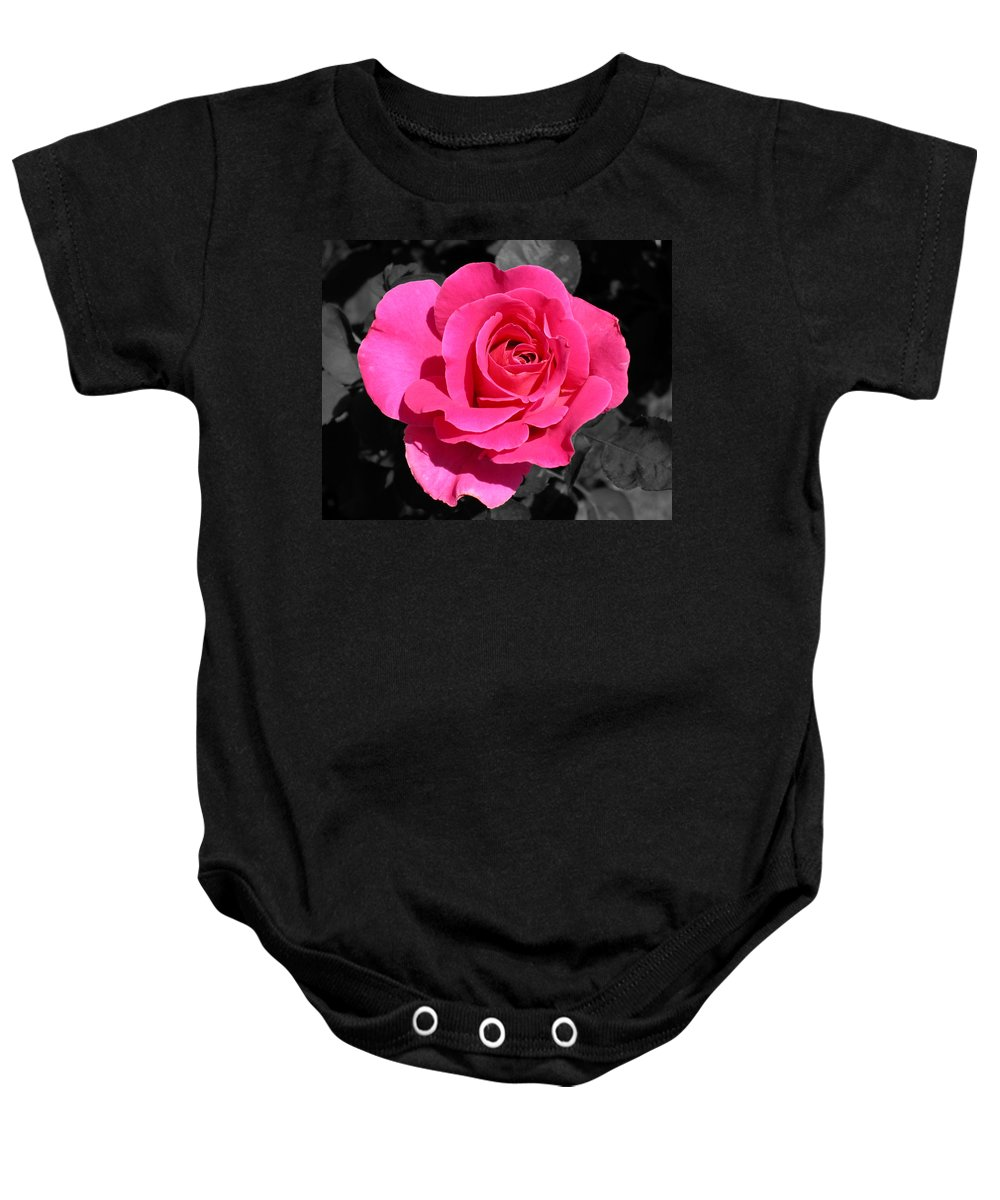 Pink Baby Onesie featuring the photograph Perfect Pink Rose by Michael Bessler