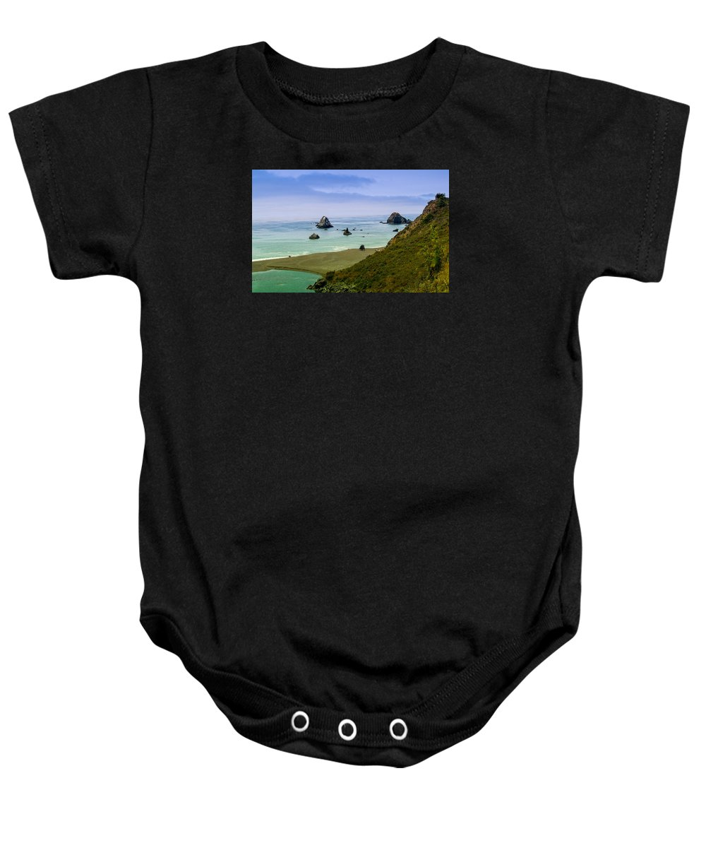 Pinnacles Baby Onesie featuring the photograph Pinnacles by Cyril Matthews