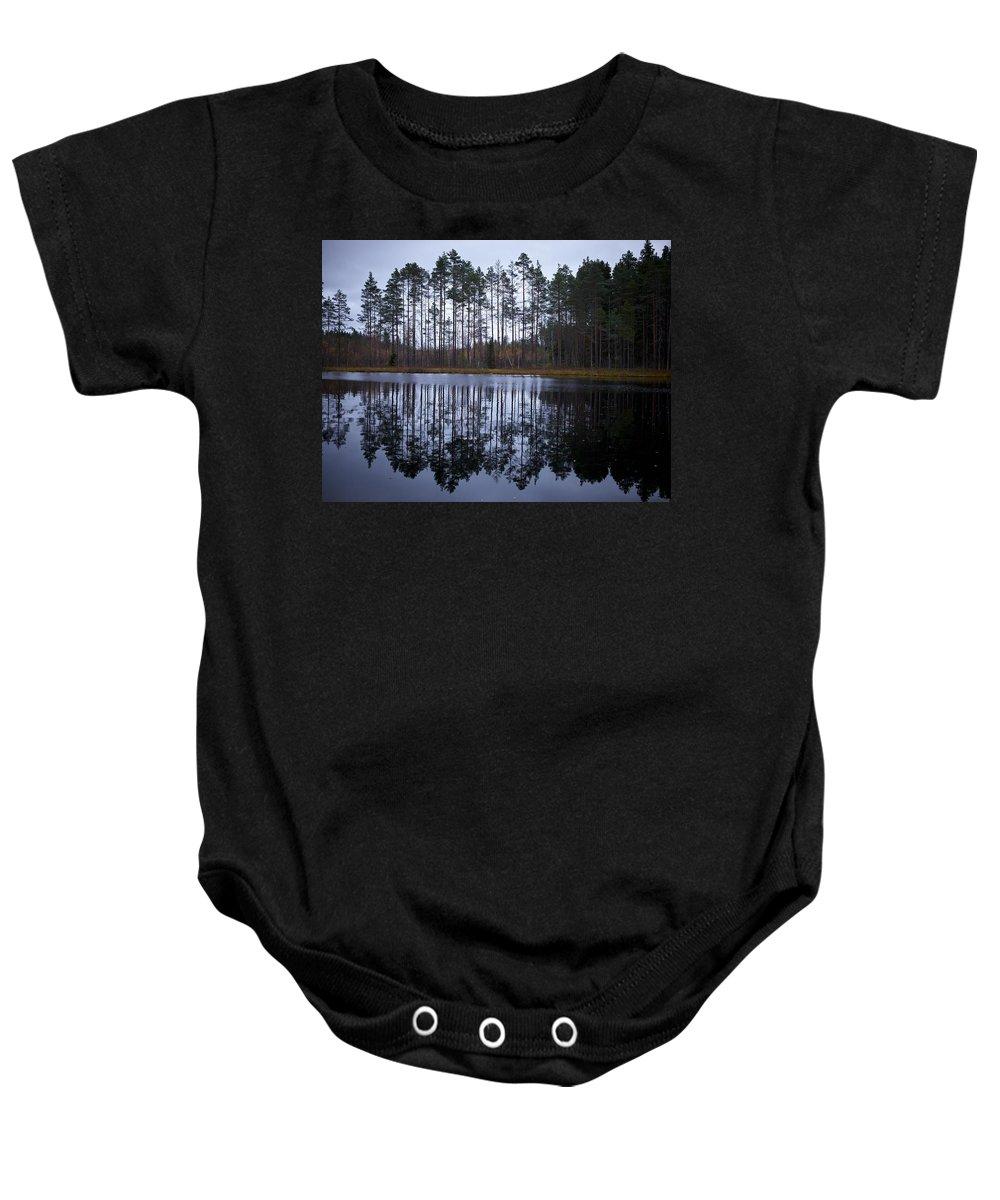 Lehtokukka Baby Onesie featuring the photograph Pitkajarvi 4 by Jouko Lehto