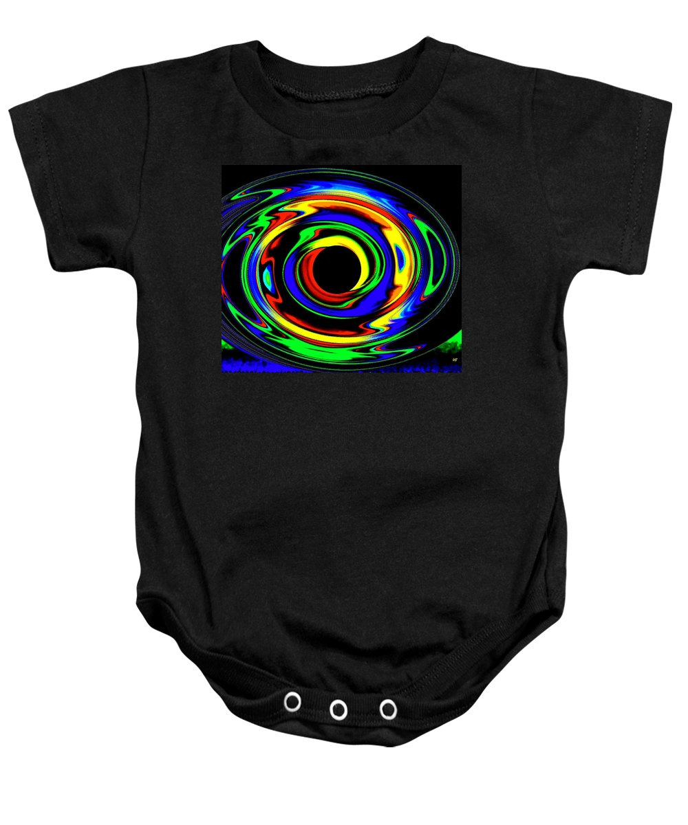 Abstract Baby Onesie featuring the digital art Pizzazz 12 by Will Borden
