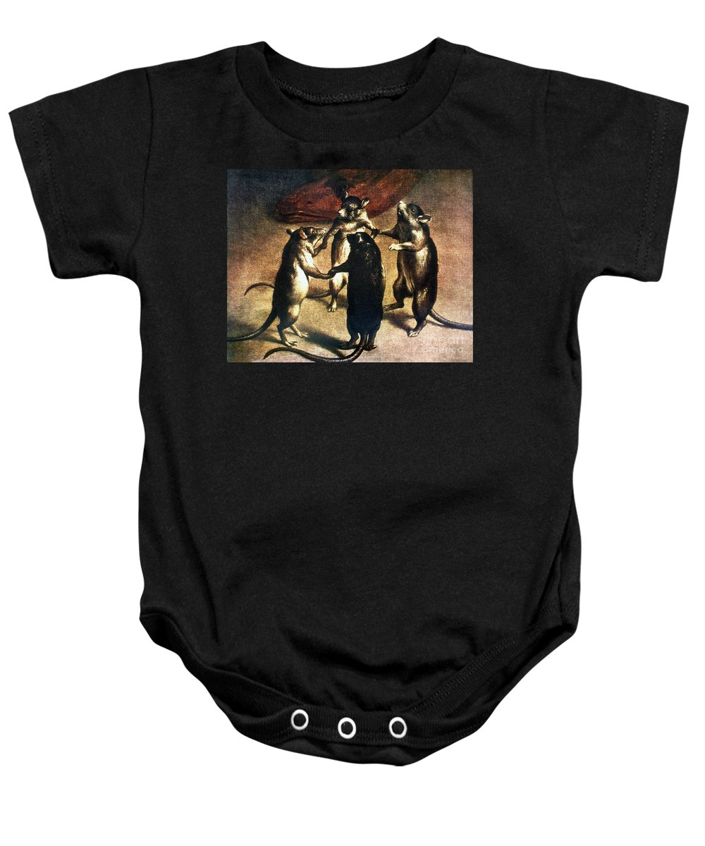 1800 Baby Onesie featuring the photograph Plague: Dance Of The Rats by Granger