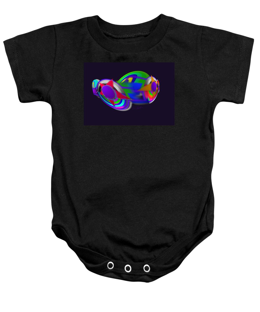 Airplane Baby Onesie featuring the painting Plane by Charles Stuart