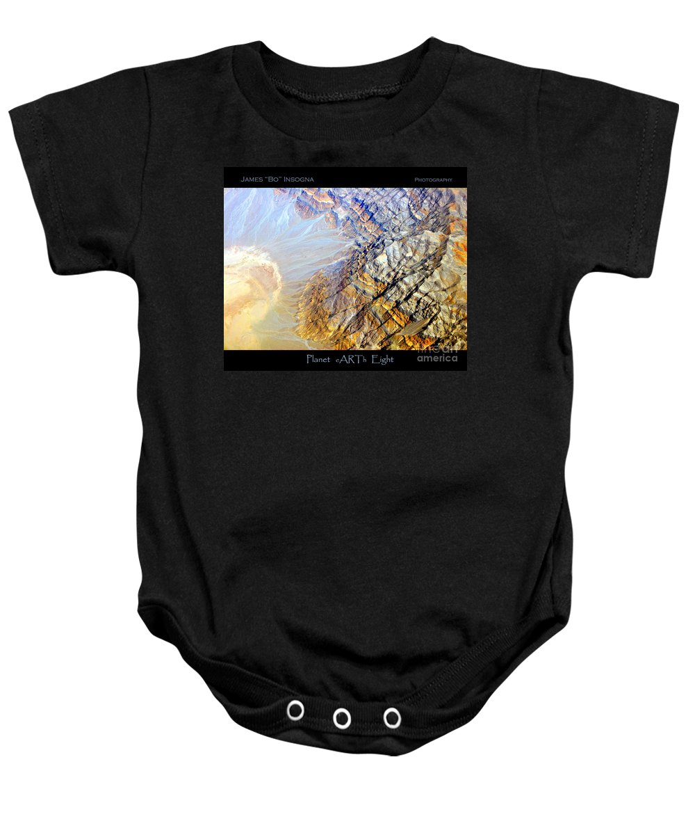 Aerial Baby Onesie featuring the photograph Planet Earth Eight by James BO Insogna