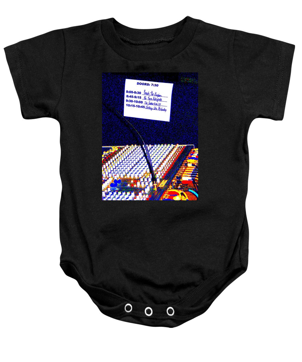 Still Life Baby Onesie featuring the photograph Plugged In by Ed Smith