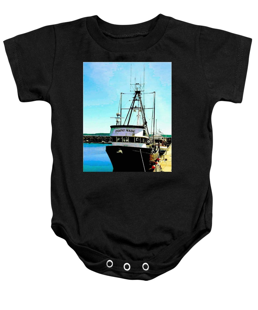 Boats Baby Onesie featuring the photograph Point Made At Pt Townsend Wa by Sadie Reneau