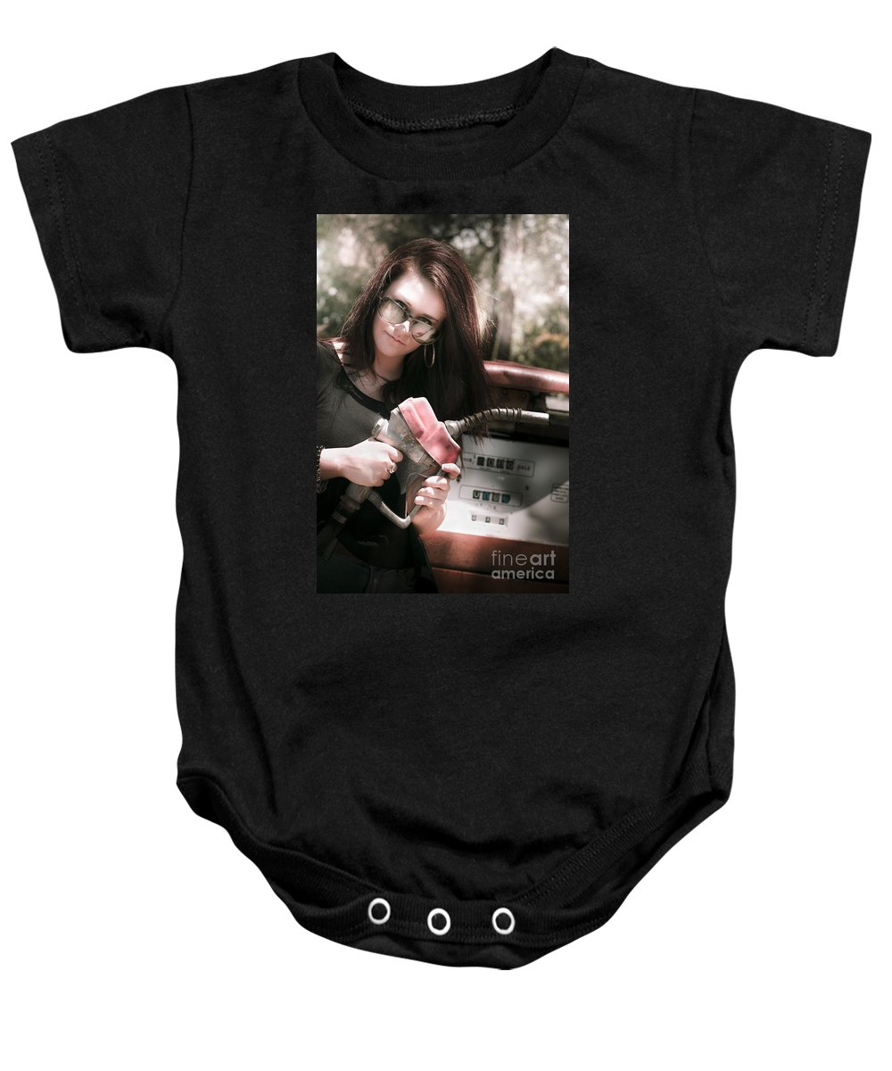 Automobile Baby Onesie featuring the photograph Pollution Through Consumption by Jorgo Photography - Wall Art Gallery