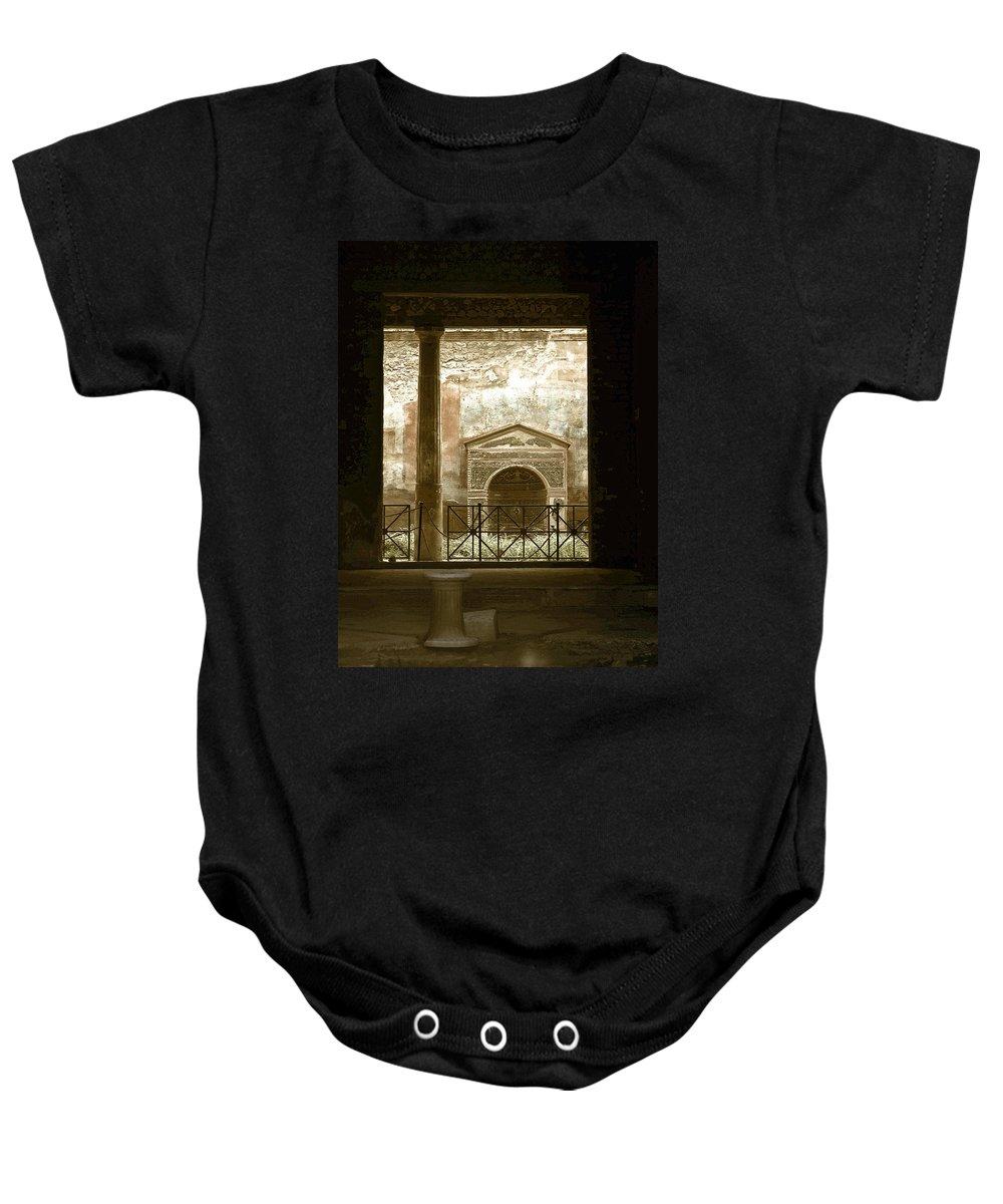 Lehtokukka Baby Onesie featuring the photograph Pompei View 2 by Jouko Lehto