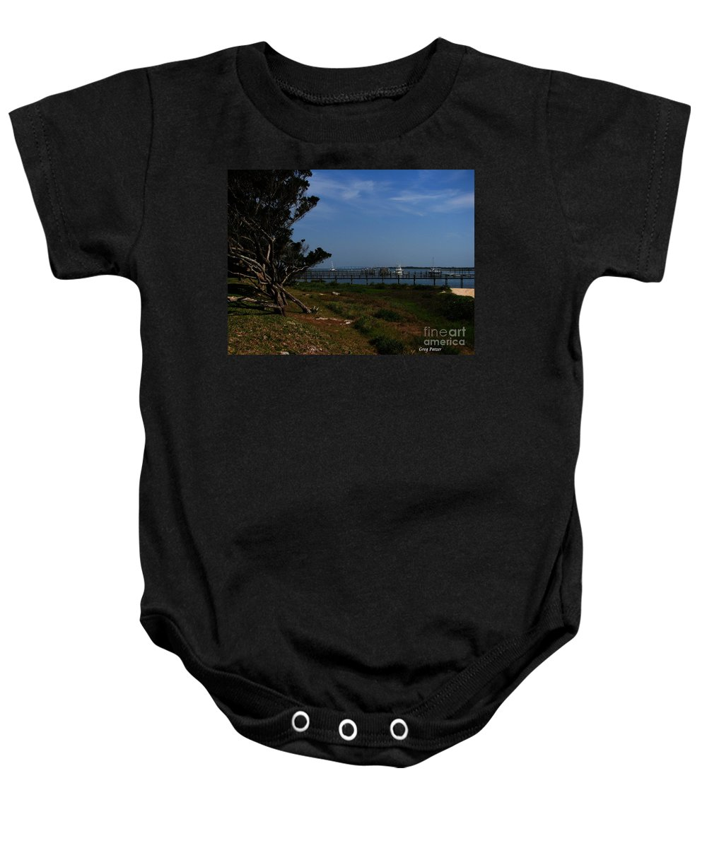 Art For The Wall...patzer Photography Baby Onesie featuring the photograph Ponce De Leon by Greg Patzer