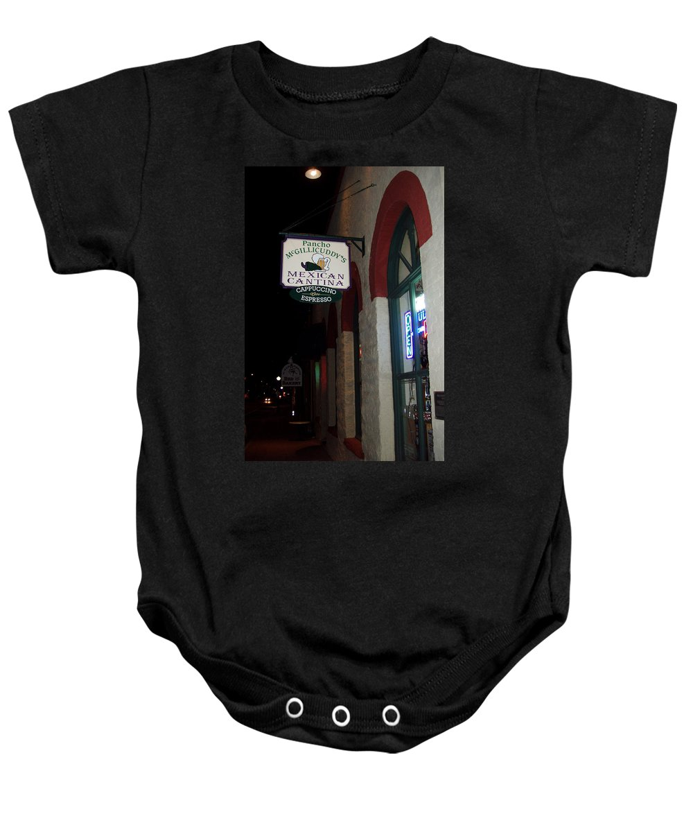 Restaurant Baby Onesie featuring the photograph Poncho Mcgillicuddys by Wayne Potrafka
