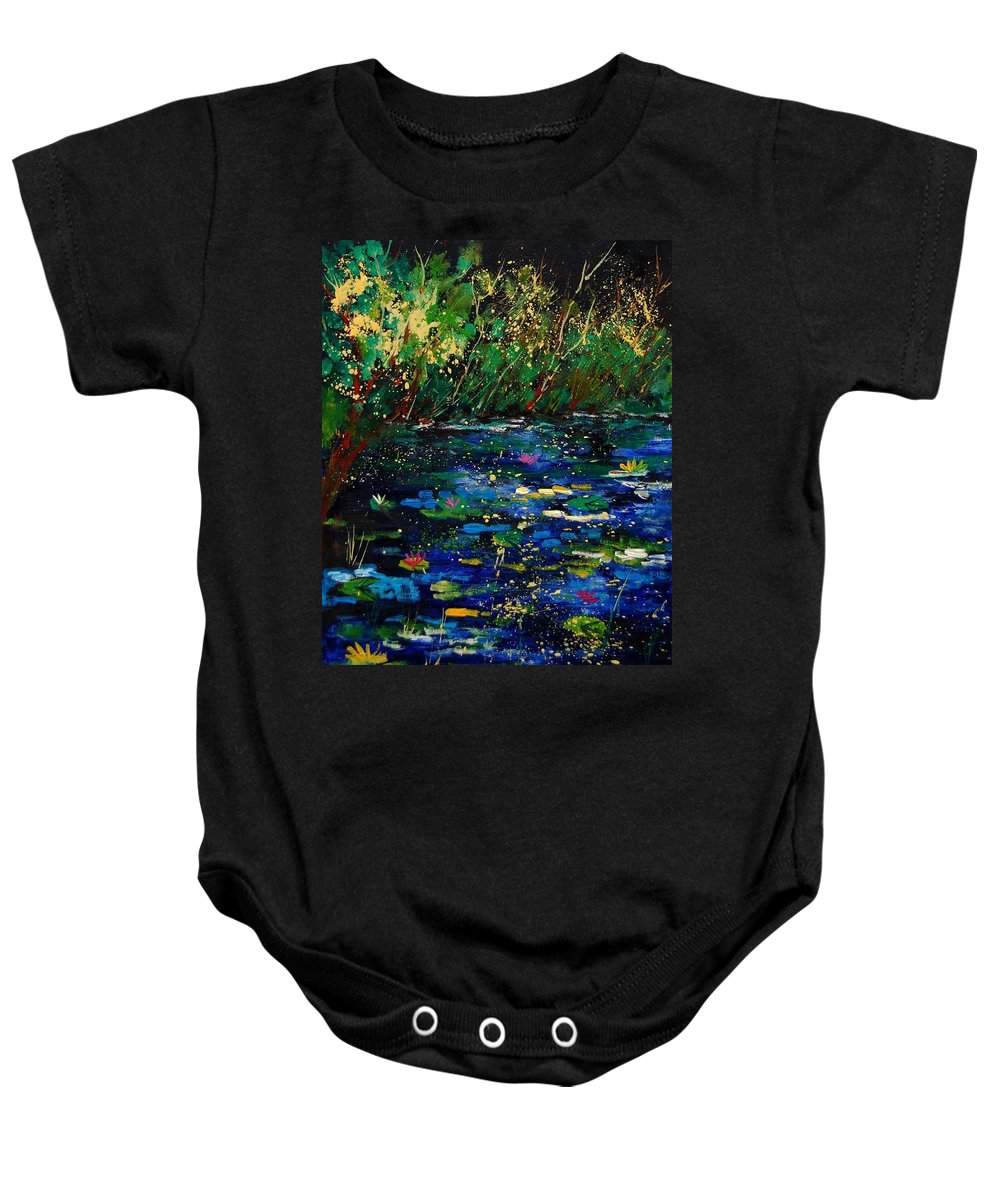 Water Baby Onesie featuring the painting Pond 459030 by Pol Ledent