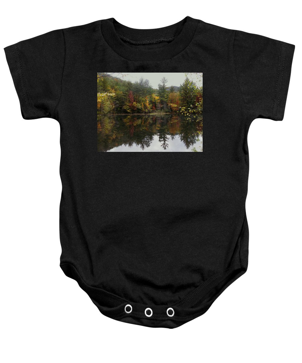 Landscape Baby Onesie featuring the photograph Pond In Jackson by Nancy Griswold