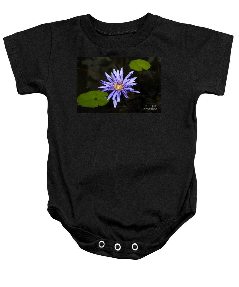Pond Lily Baby Onesie featuring the photograph Pond Lily by David Lee Thompson