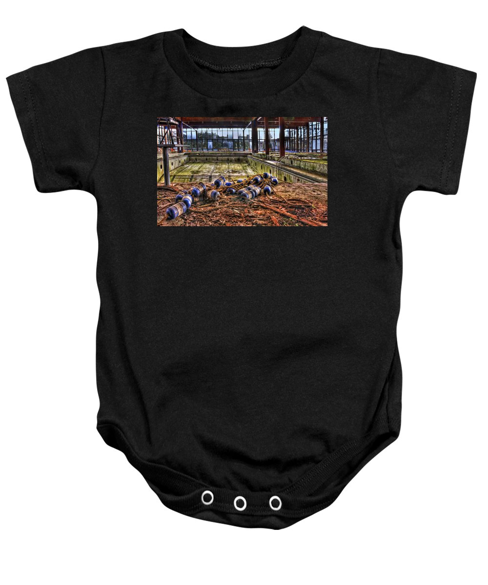 Pool Baby Onesie featuring the photograph Pool Of Sorrow by Evelina Kremsdorf